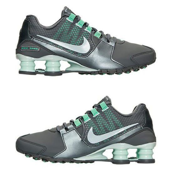 20c24fcc09fd6c Nike Shox Avenue Women S Leather M Running Grey - Turquoise - Silver  Authentic