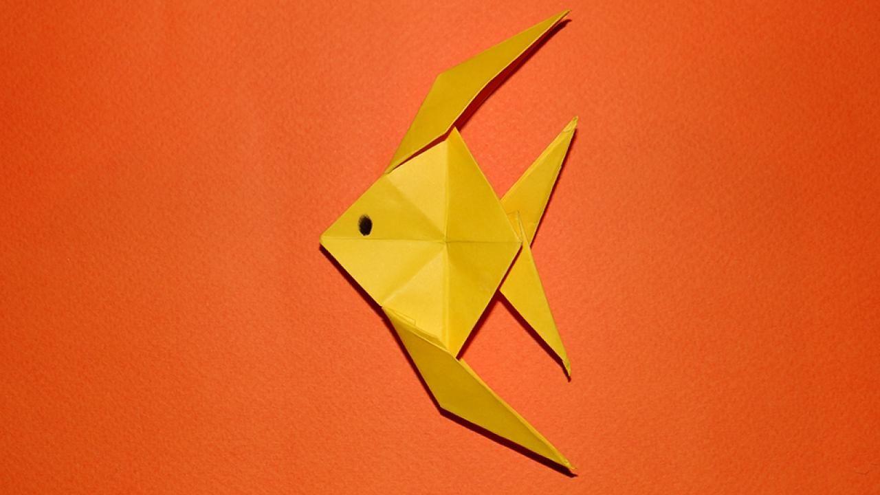 tuto origami poisson ange