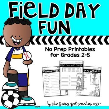 Field Days Are Here And It S Time For Some Fun This Set Of Printables Is Features Five Word Work Activities Related Word Work Activities Teacher Help Learning Field day worksheets