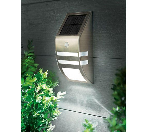 Buy motion sensor solar steel wall light at argos visit argos buy motion sensor solar steel wall light at argos visit argos to shop online for home improvements clearance home and garden home and garden aloadofball Choice Image