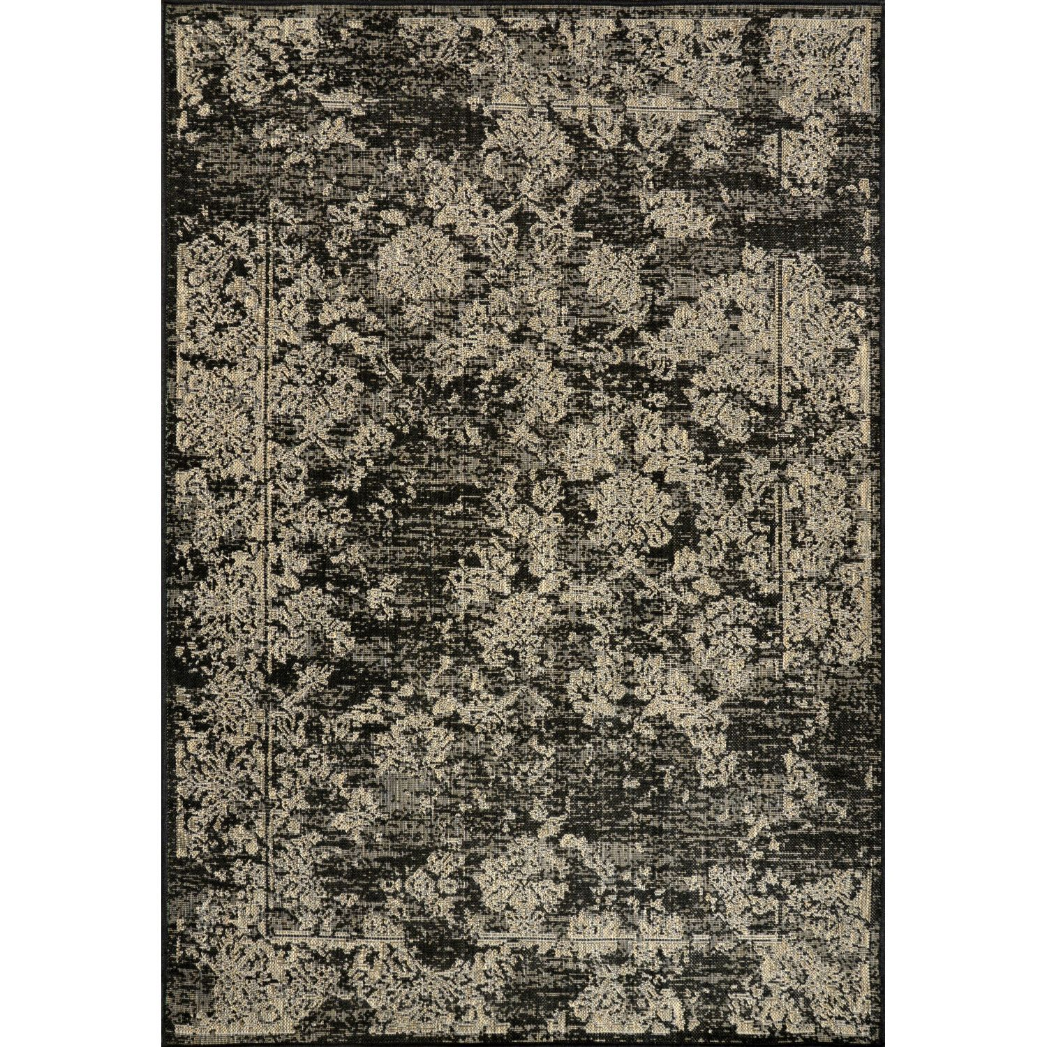 nuLOOM Dawn Black Keva Indoor/Outdoor Area Rug