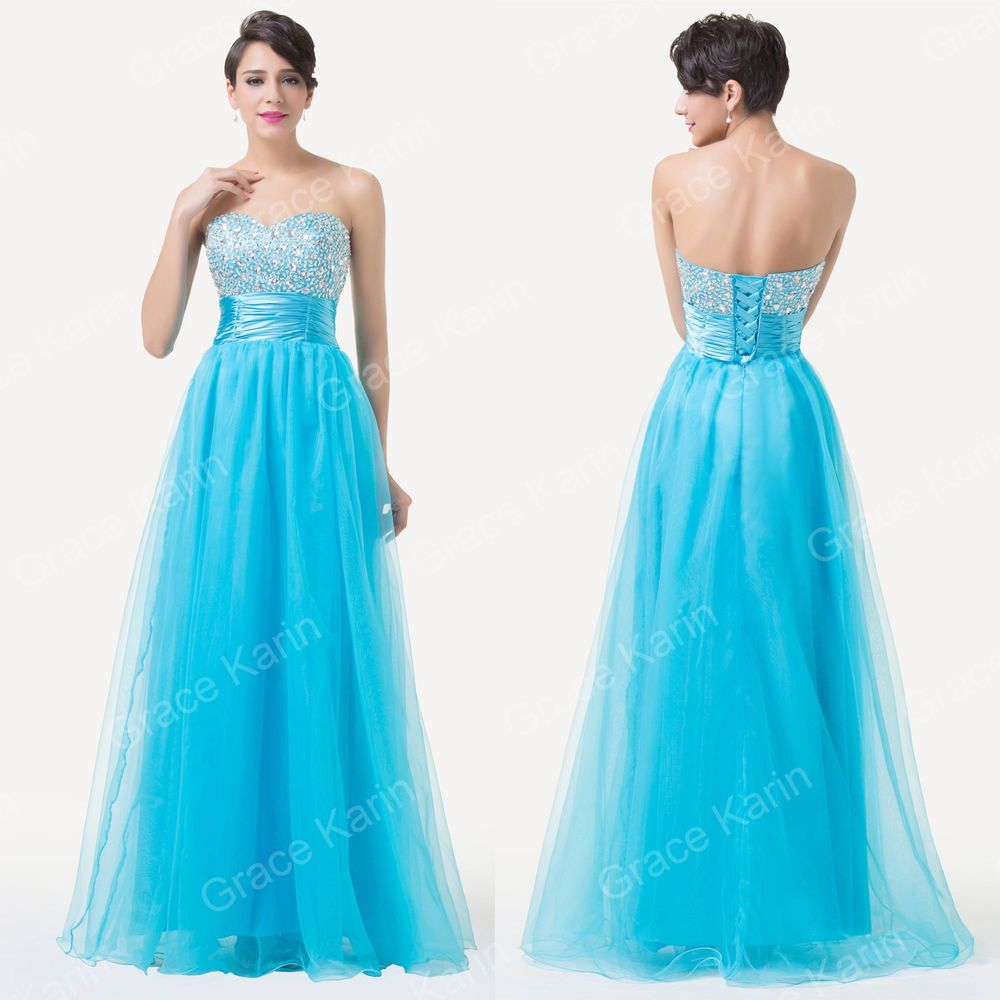 Beaded Voile Long Formal Wedding Gown Dress Bridesmaid Evening Party ...