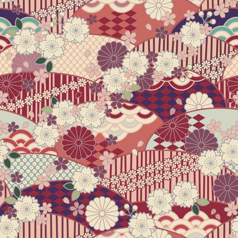 「和柄素材」/「ボルボネ」の漫画 [pixiv] | pattren | Japanese background ...