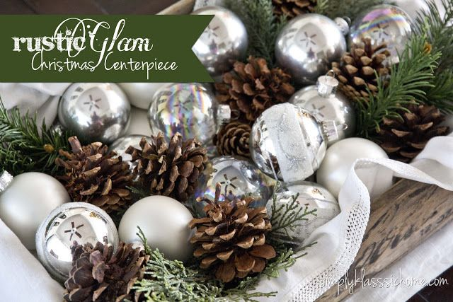Rustic Glam Christmas Centerpiece - Yellow Bliss Road