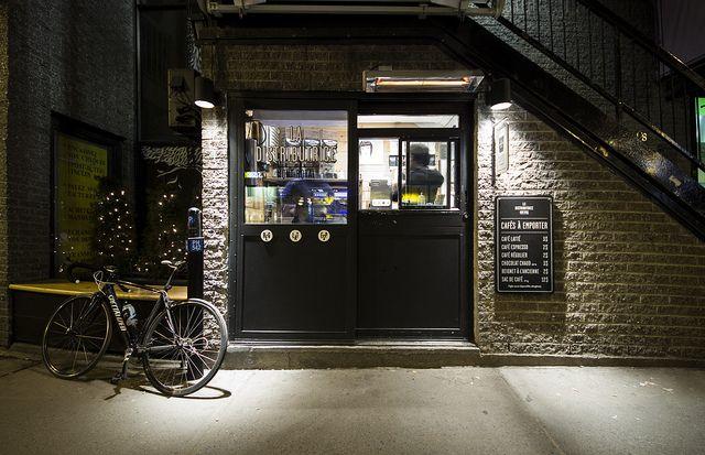 La Distributrice Flickr Location Montreal Coffee Shop Cafe Montreal