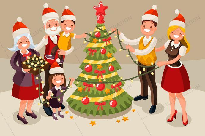 Aurielaki stock - Image Illustration | Christmas vectors ...