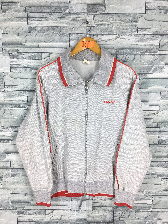 ADIDAS Sweater Jacket Medium Vintage 90's Adidas Trefoil