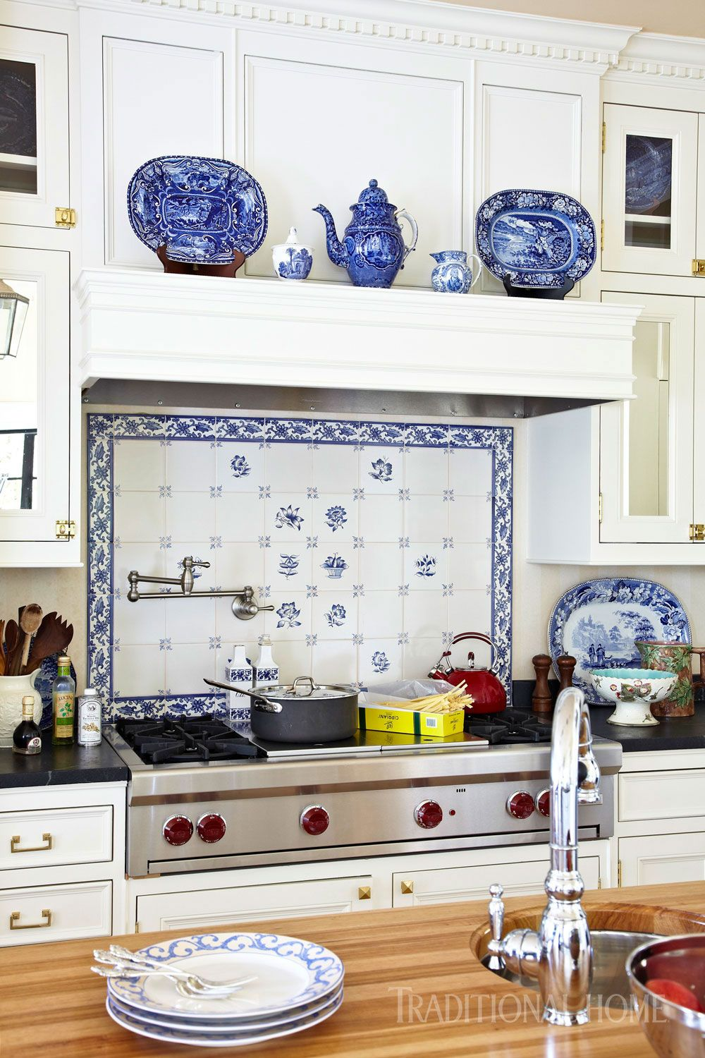 - Fairytale Finish For A Georgian Home Blue White Kitchens, White