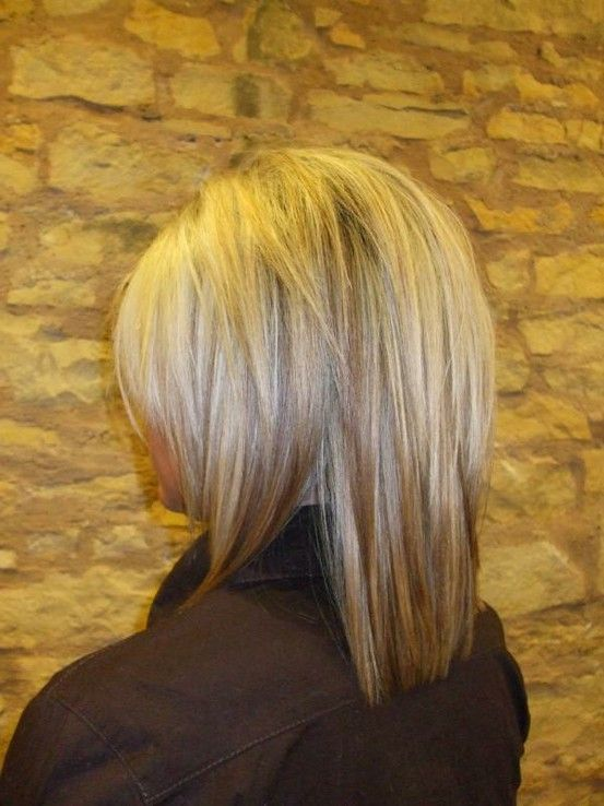 i like the cut and color...maybe a little less blonde on top and a little darker underneath: ) otherwise this is what I want! And i love all the layers in the back and how it lays really smooth!