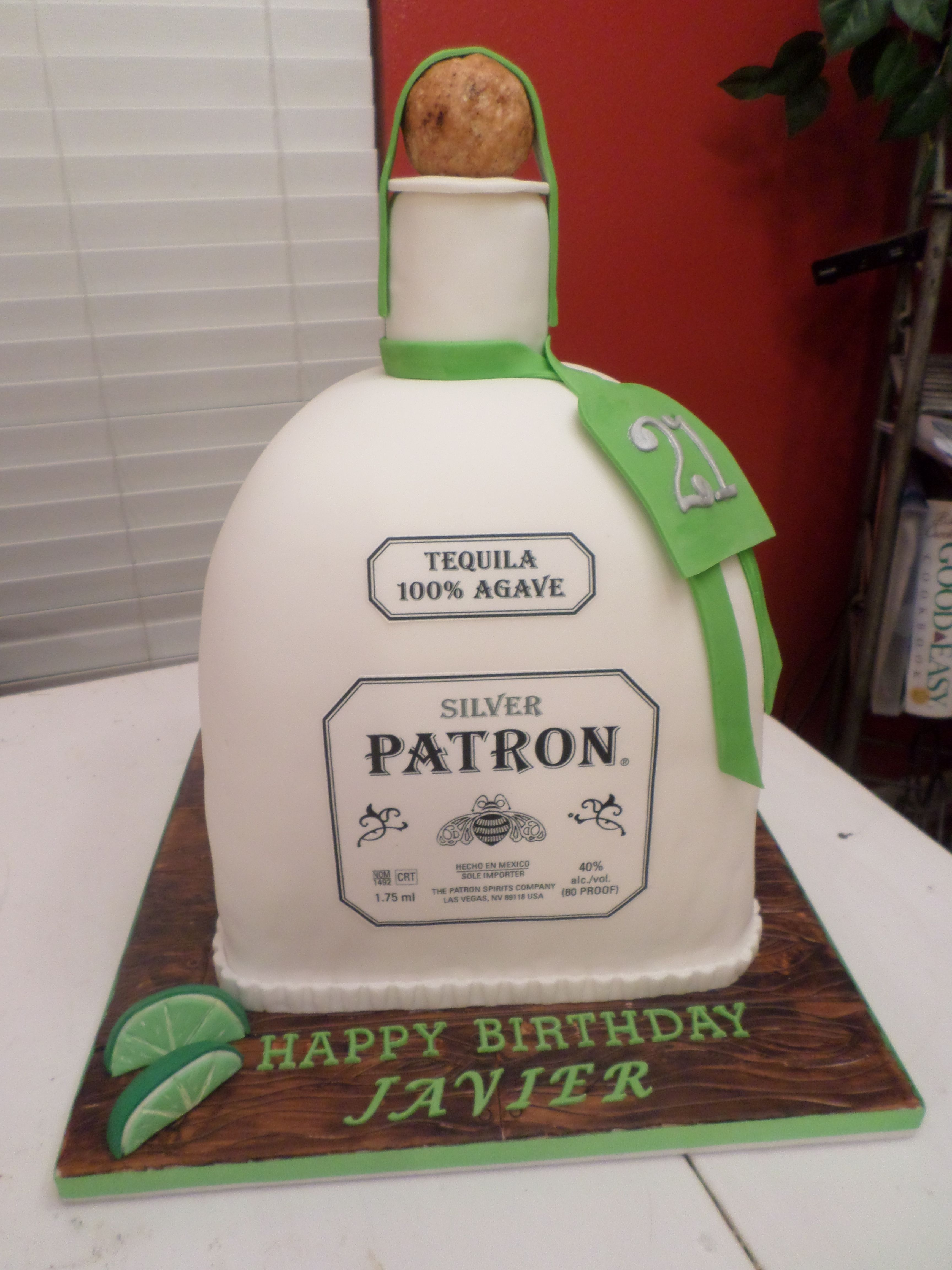 Patron Bottle Cake Sweets  Treats Pinterest Bottle Cake - Patron birthday cake