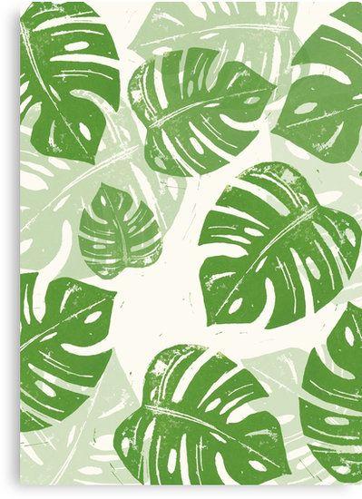 Wandbild Druck Print Monstera grün Blätter Urban Jungle