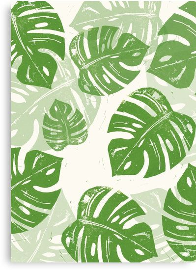 Wandbild Druck Print Monstera grün Blätter Urban Jungle - wohnzimmer einrichten grun