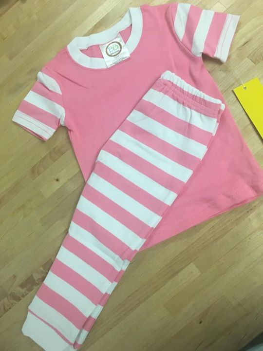 Last pink PJ set in 18 months!!! Comment to claim it first one to comment with initials gets the set.  $30 plus tax & that includes the monogram!!