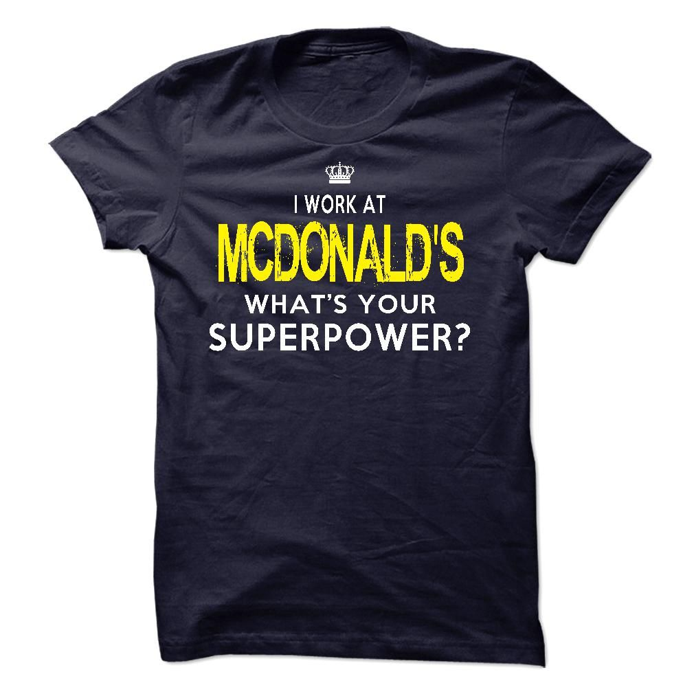 I Work At McDonalds (With images) | Sweatshirt shirt, Hoodie