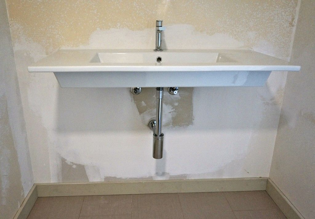 Duravit Wall Mounted Sink With Gessi Faucet And Kohler P