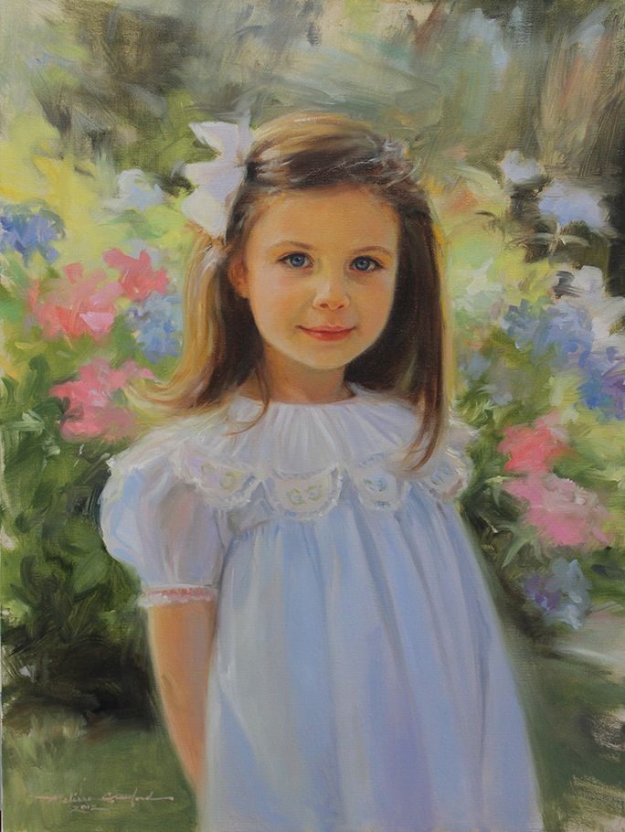 Beautiful Oil Portrait Of A Girl By A Portraits Inc Artist