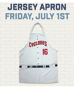 02a9c5fecc Brooklyn Cyclones BBQ apron SGA 7 1 16 NY METS MiLB New In Bag