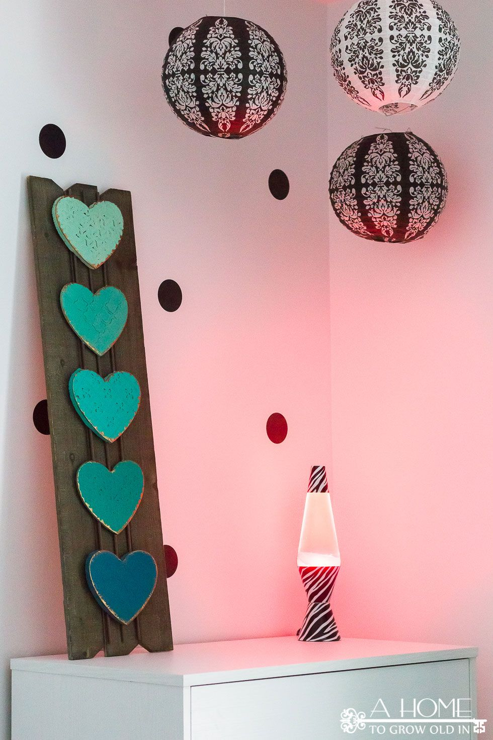 Teal, Black, and White Girl\'s Bedroom Reveal with Bloggers ...