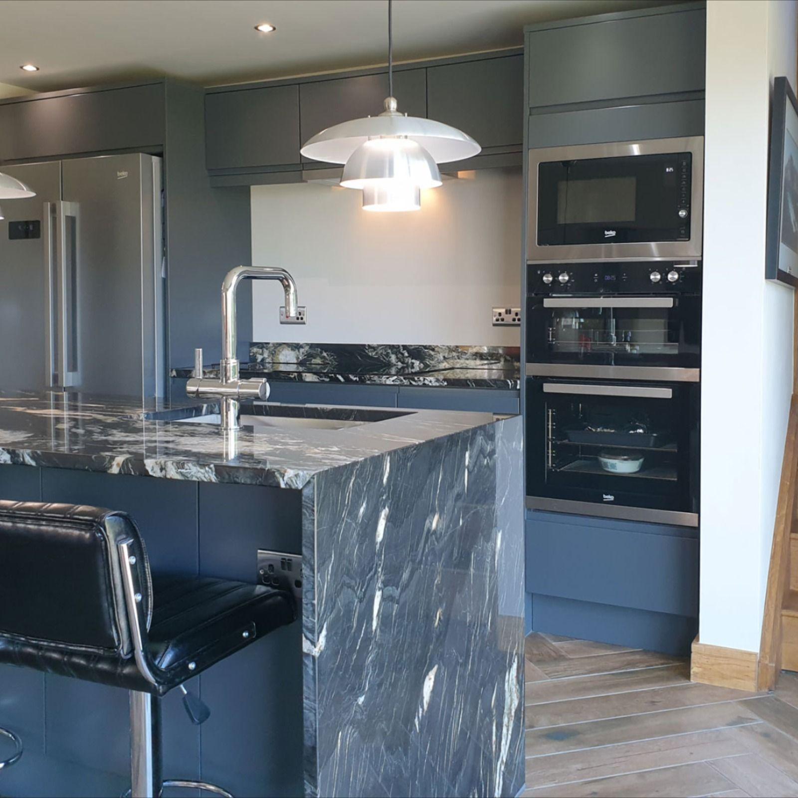 Luca Matt Carbon in 2020 Cheap kitchen units, Handleless