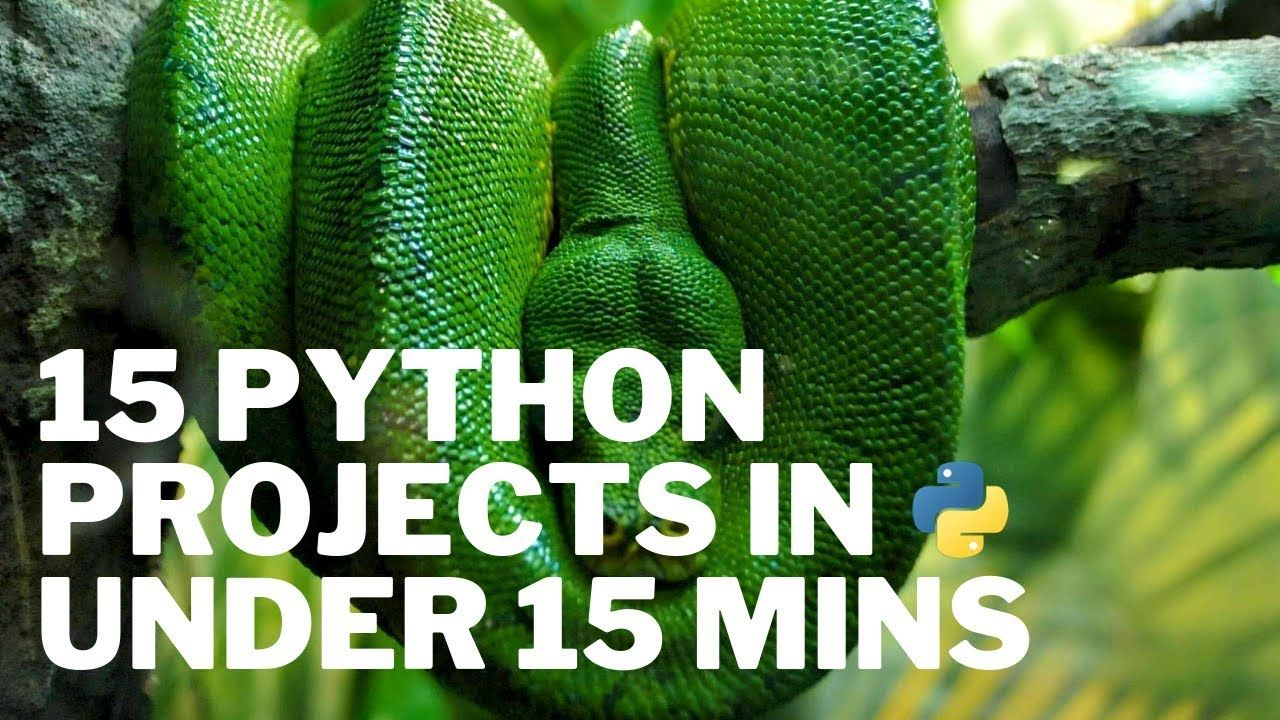 15 Python Projects In Under 15 Minutes Code Included Coding