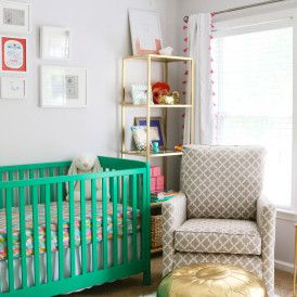 Project Nursery - Green, Gold and Pink Nursery
