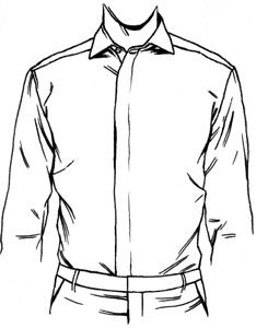 Dress shirt placket types proper cloth reference for Tuxedo shirt covered placket