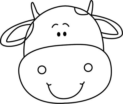 23++ Cute cow face clipart information