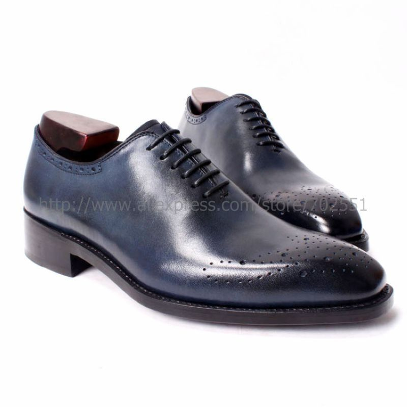 Navy Blue Men's Dress Shoes Shop the best handmade shoes at http ...