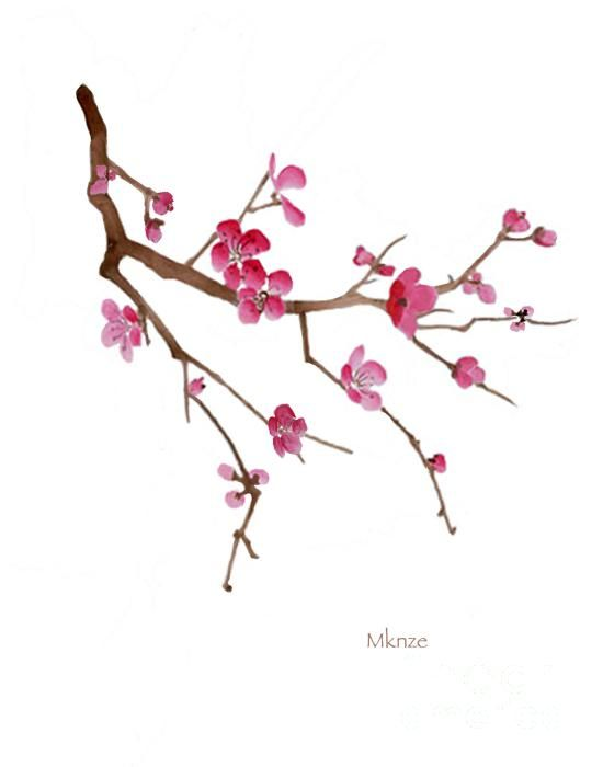 Cherry Blossoms 2c By Mckenzie Leopold Cherry Blossom Painting Cherry Blossom Painting Acrylic Cherry Blossom Drawing