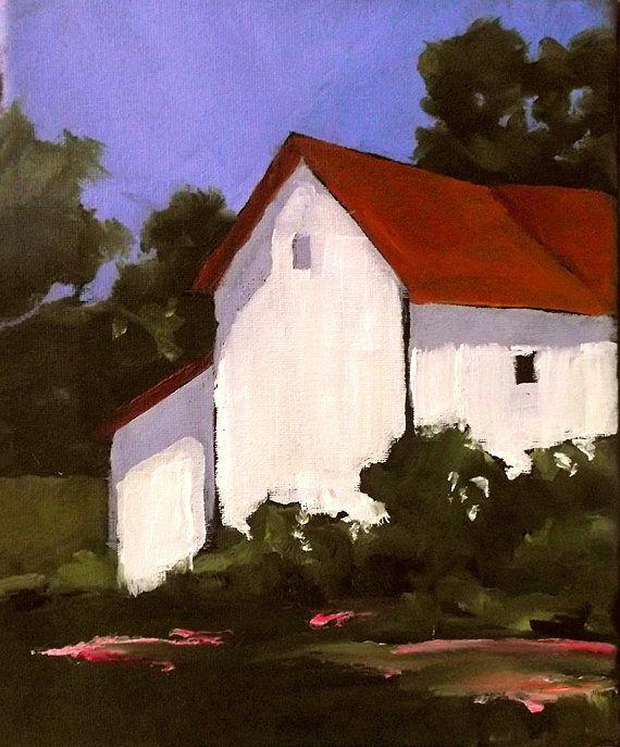 California Farm Impressionist Plein Air Landscape Oil