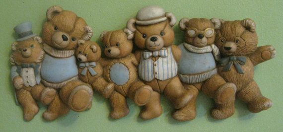 Vintage Teddy Bear Ceramic Wall Hanger to hang by 3CycleVintage, $15.99