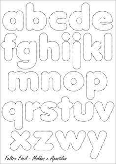 Feltro Fácil: Molde do Alfabeto