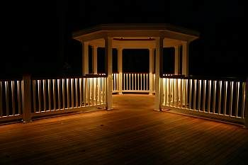 Deck railings with low voltage lighting this is an awesome idea deck railings with low voltage lighting this is an awesome idea better than post mozeypictures Images
