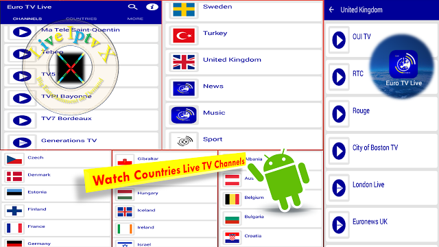 Euro TV Live APK For Watch Countries Live Tv Channels On
