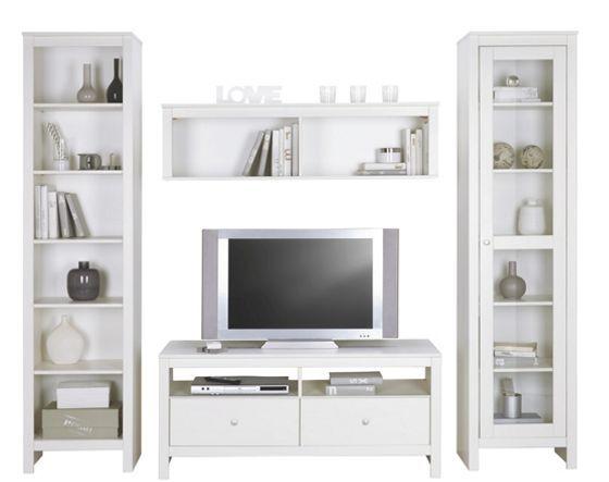Wohnwand Clara in Weiß - Wohnwände - Wohnwände \ TV Möbel - wohnzimmer wohnwand weiß