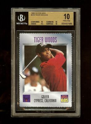 Tiger Woods Rookie Card Si For Kids Tiger Woods