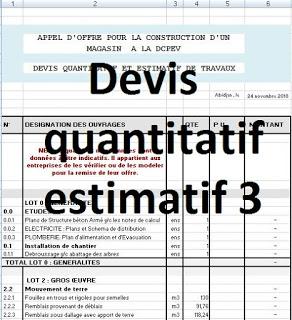 3 Exemples De Devis Quantitatif Estimatif Batiment En Excel Genies Civil Engineering Design How To Plan