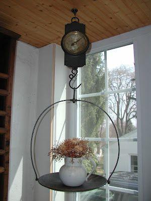 My Antique Hanging Scale Vintage Scale Decor Primitive
