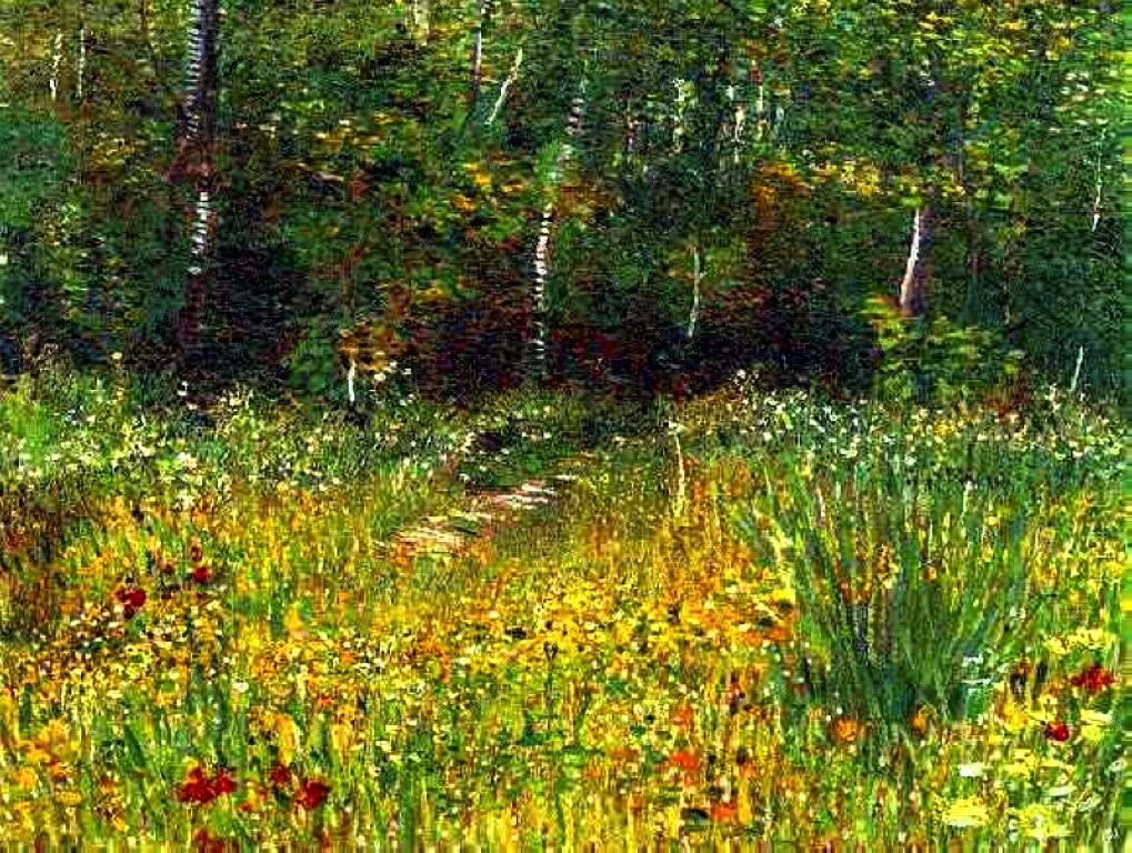 """Park at Asnieres in Spring"""