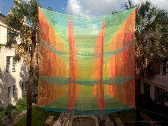 Cubic Prism by Akane Moriyama Hangs at the University of Texas trendhunter.com