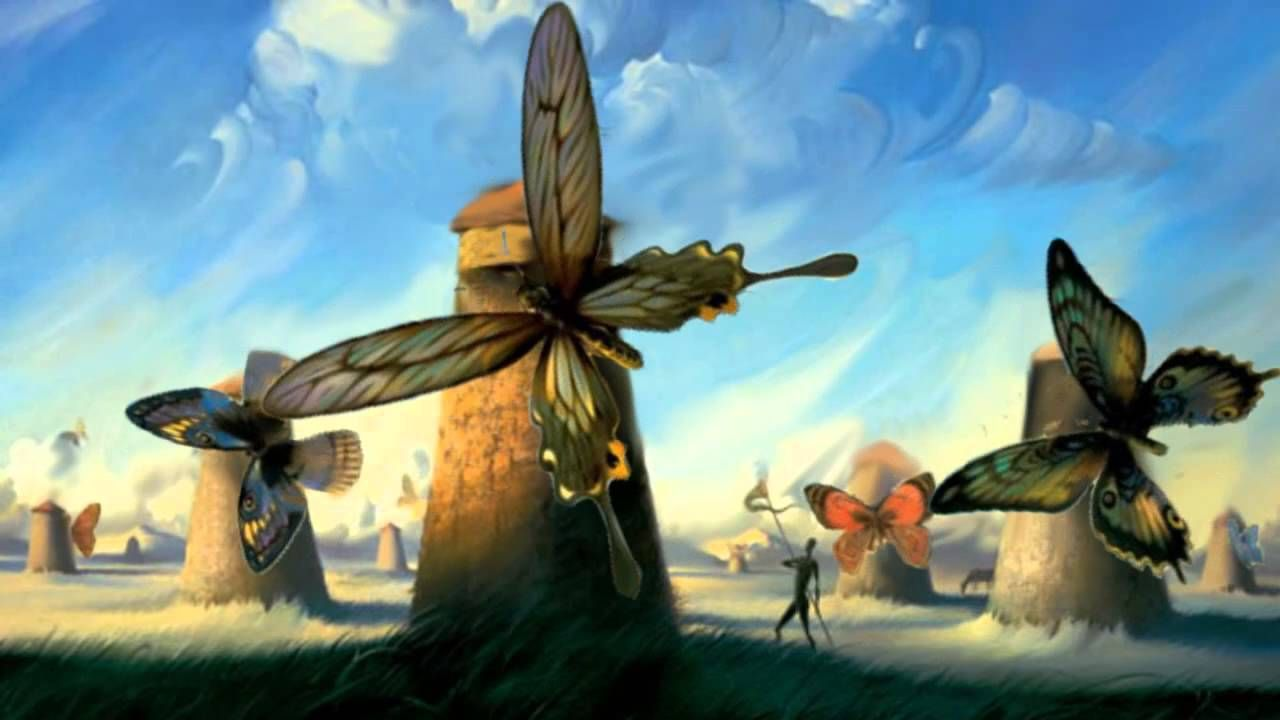 Salvador Dali Paintings Butterfly Windmills | galleryhip ...