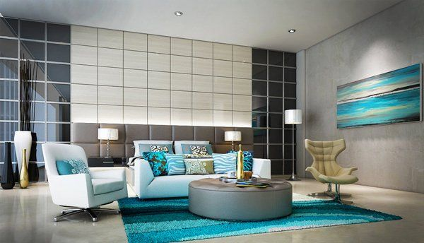 47 Cool Interior Ideas For Modern Apartment  Apartments Room Delectable Turquoise Living Room Design Inspiration
