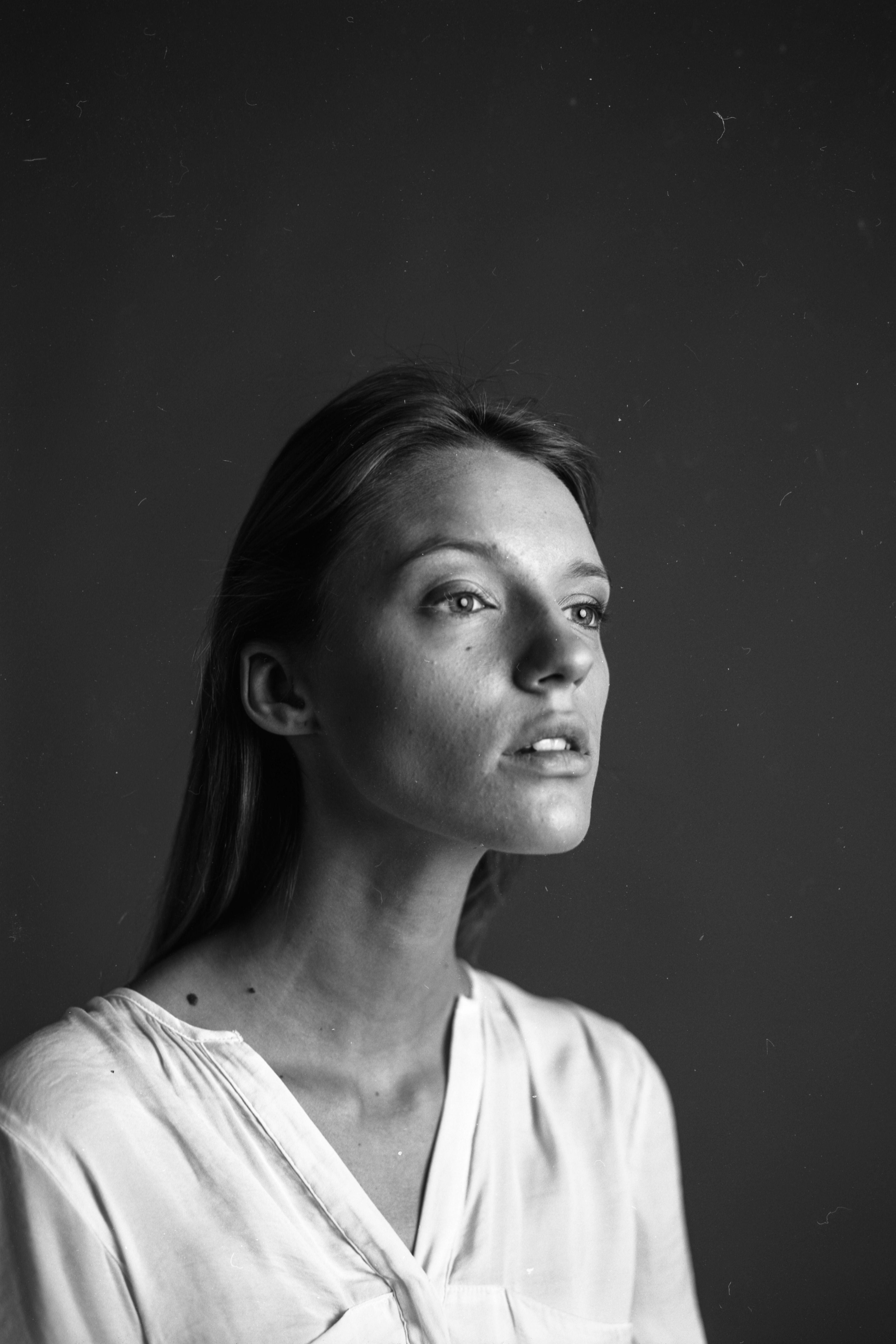 Black and white portrait with Mamiya rz67 pro 2   Mamiya