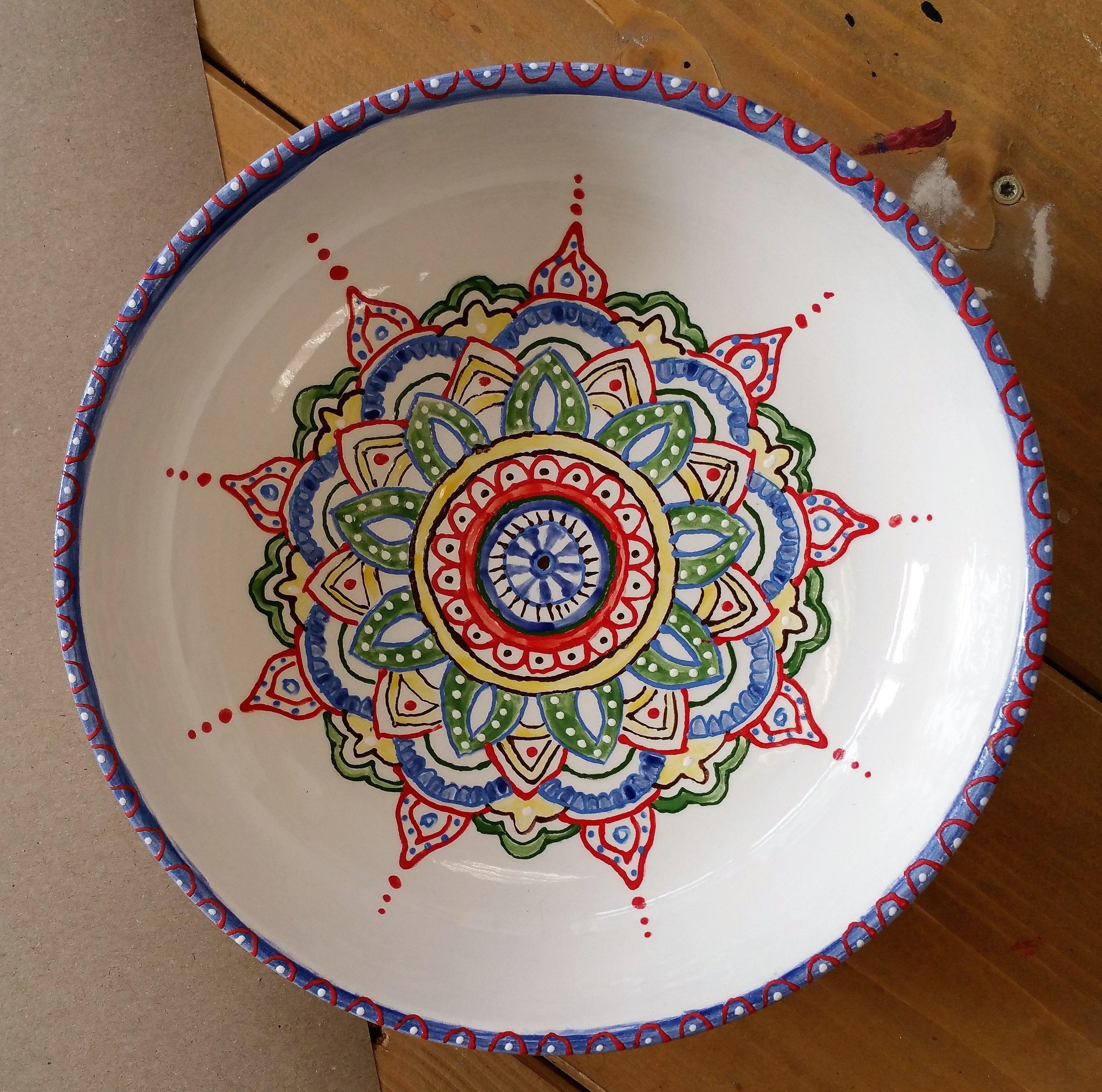 mandala auf keramik  keramik malerei keramik keramik