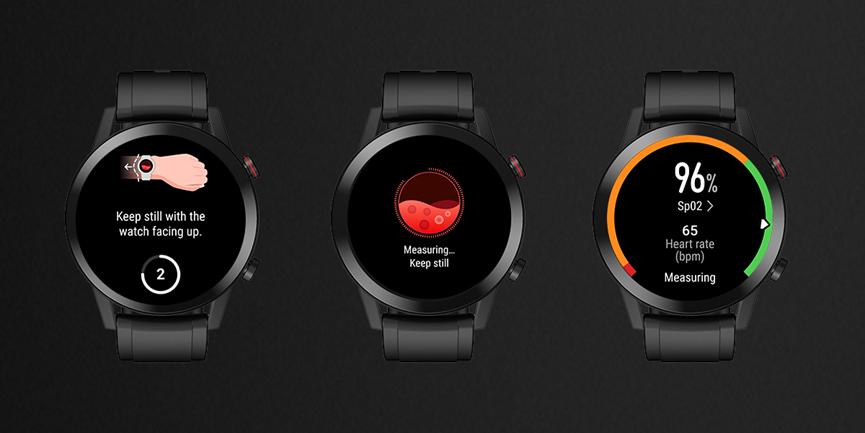 خاصية تتبع نسبة تشبع الأكسجين في الدم Spo2 أصبحت متوفرة الآن في ساعة Honor Magicwatch 2 نيوتك New Tech Smart Watch Huawei Watch Garmin Watch