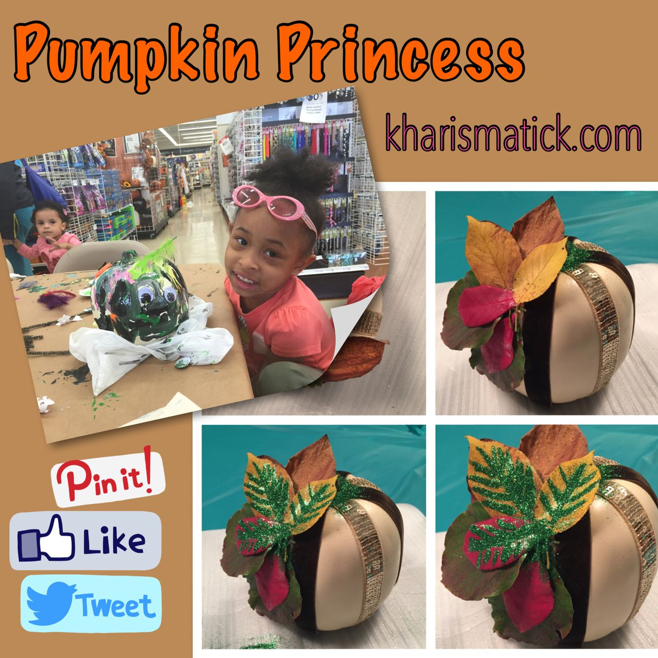 Craft pumpkins fit for Pottery Barn.  Click on the link to see the final result and how we did it http://www.kharismatick.com/#!Crafty-Kreations/cac4