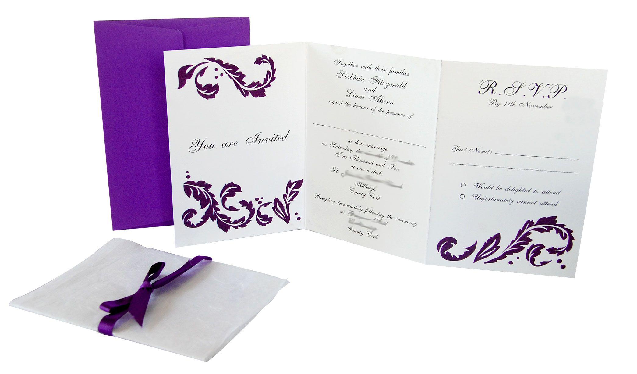 wedding invitations | chose our Lavish Red invitation suite for ...
