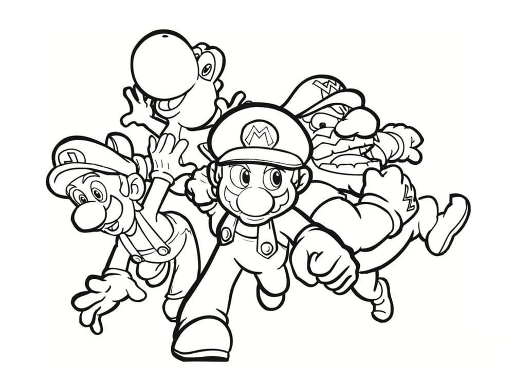 Coloriage Mario A Imprimer Coloriagemariohelice