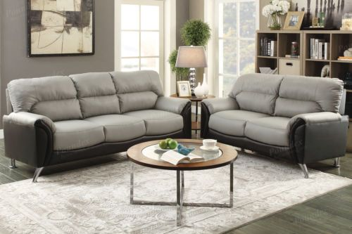 Modern 2 piece Sofa Couch Loveseat Set Love Seat Living Room #ad
