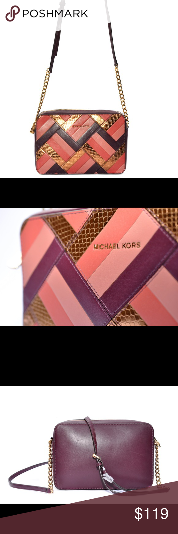 a639e2ee41ad Michael Kors Marquetry Patchwork jet set travel Michael Kors Marquetry  Patchwork jet set travel east west
